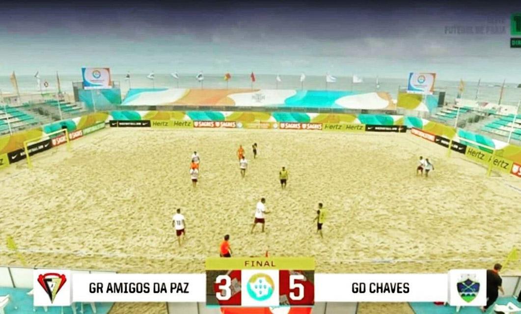 Futebol Praia: GD Chaves goleia GRAP e fica no 2.° lugar