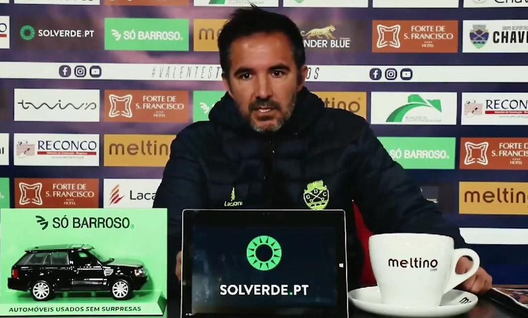 """Carlos Pinto promete """"reação forte"""" do GD Chaves frente ao FC Porto B"""