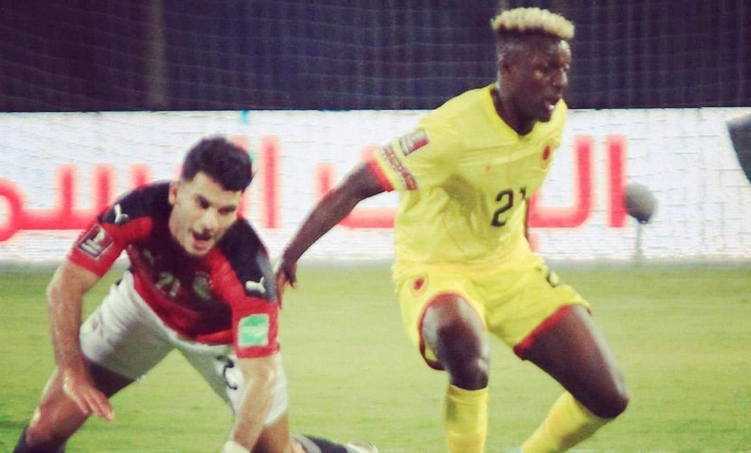 João Batxi na estreia pela seleção de Angola