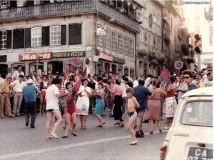 Festa da subida à I Divisão, com as ruas de Chaves a encherem de adeptos flavienses